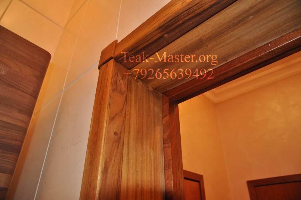 Отделка дверного проема деревом своими руками 35