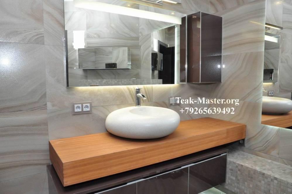 Столешница в ванную комнату дерево столешницы искуственный камень производятся из качественных материалов eljashi